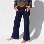 Jeans flare avec stretch